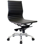 AERO MANAGERS CHAIR MEDIUM BACK PU BLACK