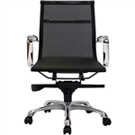 AERO MANAGERS CHAIR MEDIUM MESH BACK ARMS BLACK