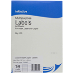 INITIATIVE MULTIPURPOSE LABELS 16UP 991 X 34MM PACK 100