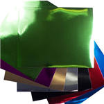 QUILL FOIL BOARD 250GSM 508 X 630MM ASSORTED COLOURS PACK 50