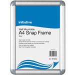 INITIATIVE SNAP FRAME WALL MOUNTABLE A4 SILVER