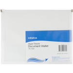 INITIATIVE DOCUMENT WALLET WITH ZIPPER A4 CLEAR
