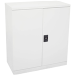 INITIATIVE STATIONERY CUPBOARD 2 SHELVES 1015 X 910 X 450MM WHITE CHINA