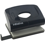 INITIATIVE HOLE PUNCH 2 HOLE 20 SHEET MEDIUM PLASTIC BLACK