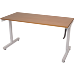 RAPIDLINE TRIUMPH MANUAL HEIGHT ADJUSTABLE WORKSTATION 1200 X 700MM BEECH