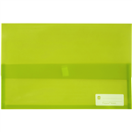 MARBIG POLYPICK DOCUMENT WALLET FOOLSCAP TRANSLUCENT LIME