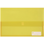 MARBIG POLYPICK DOCUMENT WALLET FOOLSCAP TRANSLUCENT YELLOW