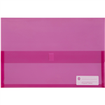 MARBIG POLYPICK DOCUMENT WALLET FOOLSCAP TRANSLUCENT PINK