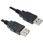 ASTROTEK USB EXTENSION CABLE 20 A MALE TO A FEMALE 300MM BLACK