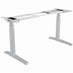 FELLOWES LEVADO HEIGHT ADJUSTABLE DESK BASE ONLY SILVER