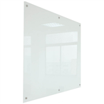 RAPIDLINE GLASS WRITING BOARD WITH CHROME FITTINGS 900 X 600 X 15MM WHITE