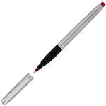 ARTLINE SIGNATURE SILVER ROLLERBALL PEN 07MM RED