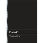 PROTEXT VISUAL ART DIARY WITH PP COVER 110GSM 120 PAGE A4 BLACK