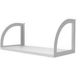 RAPID INFINITY SCREEN HUNG SHELF 600 X 270 X 250MM NATURAL WHITEWHITE