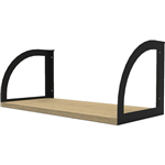 RAPID INFINITY SCREEN HUNG SHELF 600 X 270 X 250MM NATURAL OAKBLACK