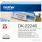 BROTHER DK22246 CONTINUOUS PAPER LABEL ROLL 103MM X 3048M WHITE
