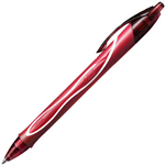 BIC GELOCITY RETRACTABLE QUICK DRY GEL PEN MEDIUM 07MM RED