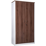 OM PREMIER CABINET FULL DOORS LOCKABLE 900 X 450 X 1800MM CASNANWHITE