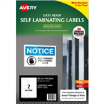 AVERY 00751 SELF LAMINATING LABELS 2UP 88 X 114MM PACK 5
