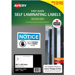 AVERY 00752 SELF LAMINATING LABELS 4UP 58 X 84MM PACK 5