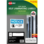 AVERY 00753 SELF LAMINATING LABELS 10UP 26 X 88MM PACK 5
