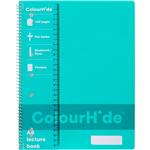 COLOURHIDE LECTURE NOTEBOOK 140 PAGE A4 AQUA