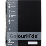 COLOURHIDE LECTURE NOTEBOOK 140 PAGE A4 BLACK