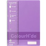 COLOURHIDE LECTURE NOTEBOOK 140 PAGE A4 PURPLE