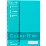 COLOURHIDE NOTEBOOK 120 PAGE A4 AQUA
