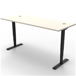 RAPIDLINE BOOST HEIGHT ADJUSTABLE WORKSTATION 1200 X 750MM NATURAL WHITEBLACK