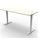 RAPIDLINE BOOST HEIGHT ADJUSTABLE WORKSTATION 1200 X 750MM NATURAL WHITEWHITE