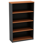OM OPEN BOOKCASE 900 X 320 X 1500MM CHERRYCHARCOAL