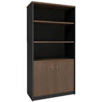 OM PREMIER HALF DOOR CABINET 900 X 450 X 1800MM REGAL WALNUTCHARCOAL