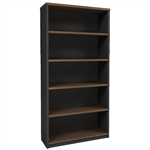 OM PREMIER OPEN BOOKCASE 900 X 320 X 1800MM REGAL WALNUTCHARCOAL