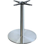 ALEXI TABLE BASE ROUND 450MM STAINLESS STEEL