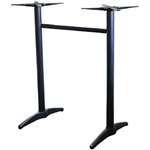ASTORIA BAR TABLE BASE TWIN WEIGHTED BLACK POWDERCOAT