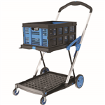 XCART FOLDING TROLLEY WITH BASKET 75KG CAPACITY