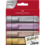 FABERCASTELL TEXTLINER HIGHLIGHTER METALLIC ASSORTED PACK 4