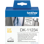 BROTHER DK11234 ADHESIVE NAME BADGE LABELS 60 X 86MM WHITE ROLL 260