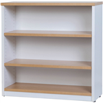 OXLEY BOOKCASE 3 SHELF 900 X 315 X 900MM OAKWHITE