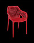 AIR ARM CHAIR ONE PIECE INJECTION MOULDED POLYPROPYLENE UV STABLE SUITABLE INDOOROUTDOOR