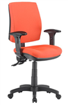 ALPHA 2 LEVER TASK CHAIR MEDIUM BACK WITH ARMS LOCALLY UPHOLSTERED