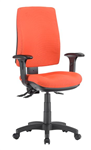 ALPHA 2 LEVER TASK CHAIR HIGH BACK WITH ARMS LOCALLY UPHOLSTERED