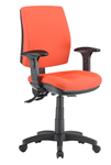 ALPHA 3 LEVER TASK CHAIR MEDIUM BACK WITH ARMS LOCALLY UPHOLSTERED