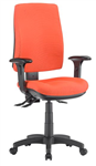 ALPHA 3 LEVER TASK CHAIR HIGH BACK WITH ARMS LOCALLY UPHOLSTERED