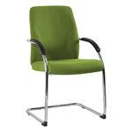 ASTRA HOSPITALITY SEAT CHROME CANTILEVER FRAME 120KG RATED LOCALLY UPHOLSTERED