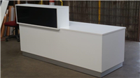 BLOCK RECEPTION COUNTER DESK 1800 X 750D X 1100H X 900W GLOSS FRONT  HOB