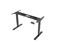 RAPIDLINE BOOST HEIGHT ADJUSTABLE DESK FRAME ONLY 11001800 X 570D X 6201250H SUITS TOP UP TO 12002000 WIDE X 600800 DEEP IN BLACK MPC3 VALUE