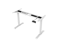RAPIDLINE BOOST HEIGHT ADJUSTABLE DESK FRAME ONLY 11001800 X 570D X 6201250H SUITS TOP UP TO 12002000 WIDE X 600800 DEEP IN WHITE MPC3 VALUE