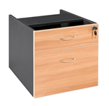 ASCOT FIXED PEDESTAL 1 DRAWER 1 FILE OMFP2 W464D400H450